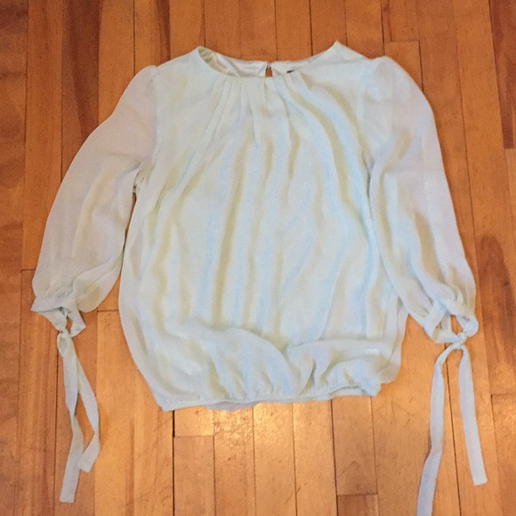 Light blue/green blouse by Suzy Shier XS